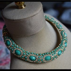 Amrita Singh Turquoise Jeweled Collar Necklace